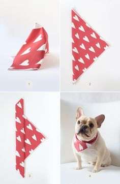 Valentine's Day isn't just for humans! Show your favorite furry friend some love with this adorable DIY doggie bandana.