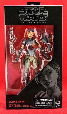 "Sabine Wren Star Wars the Black Series 6"" Action Figure Wave 9 Hasbro Toy New #Hasbro"