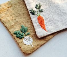 Beginner Embroidery Kit Coasters Set Of Three,vegetables pattern coaster,Gift for Them,House Gifts,d Diy Embroidery Projects, Hand Embroidery Patterns Free, Towel Embroidery, Embroidery Flowers Pattern, Embroidery For Beginners, Embroidery Kits, Embroidery Designs, House Gifts, Christmas Embroidery