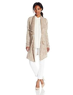 Allison Brittney Women's Empire Waist Marled Cardigan