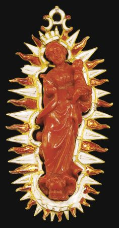 Pendant set with the Virgin and Child, Italian, Trapani, 18th century