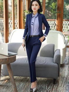 e605a2e667d77 New Fashion Business interview women pants suits plus size work wear office  ladies long sleeve slim