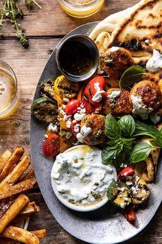 Turkey Recipes, Meat Recipes, Chicken Recipes, Dinner Recipes, Cooking Recipes, Healthy Recipes, Zucchini Corn Recipe, Half Baked Harvest, Pork