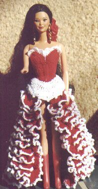 FANDANGO DRESS Barbie free crochet pattern