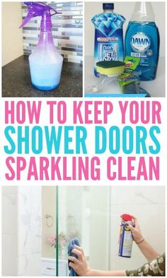 Are you wondering How To Clean Glass Shower Doors? Here you will find the best way to clean glass shower doors to remove soap scum and hard water stains. These easy way to clean glass shower doors will have your shower doors sparkling clean. Deep Cleaning Tips, House Cleaning Tips, Cleaning Solutions, Cleaning Products, Clean House Tips, Spring Cleaning Tips, Cleaning With Bleach, Natural Cleaning Recipes, Household Cleaning Tips