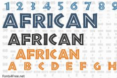 African font is a fancy, outline font designed by Allen R. African font is free for both personel and commercial usages. Caligraphy Alphabet, Handwritten Letters, African Logo, African Art, Typography Fonts, Graphic Design Typography, Journal Fonts, Fancy Fonts, Cricut Fonts