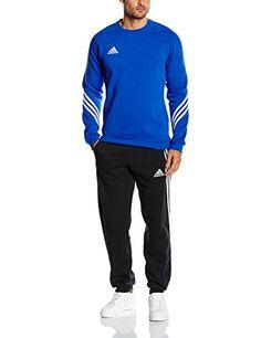 €40.11 * Gr. S * adidas Fußball Sere14 Sweat Trainingsanzug Cobalt/White