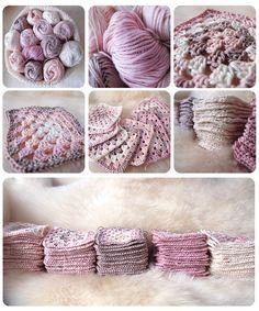 Cómo hacer una manta granny square DIY de crochet o granchillo