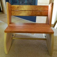 Custom Made Child's Chair And Stool