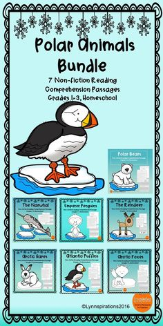 This Polar Animals Bundle of 7 reading comprehension passages for grades 1-3 can be used in your class to help your students with reading comprehension skills as well as with test taking skills.  Please take a preview peek!   Included: Seven engaging passages with 4 multiple choice questions and 2 written responses each.