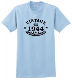 Vintage 1944 Aged to Perfection Seal 70th Birthday T-Shirt