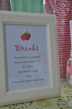 Strawberry Shortcake and Strawberries Birthday Party Ideas Girls Birthday Party Themes, Baby Girl Birthday, First Birthday Parties, First Birthdays, Birthday Ideas, 3rd Birthday, Strawberry Shortcake Birthday, Strawberry Baby, Strawberries