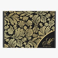 Love it! This Black Gold Monogram Folio iPad Mini Covers For iPad Mini is completely customizable and ready to be personalized or purchased as is. It's a perfect gift for you or your friends.
