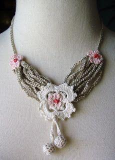 beautiful crocheted necklaces   make handmade, crochet, craft