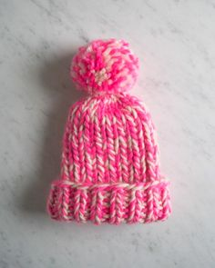 Chunky, ribbed, pom pom?! Yes please! Perfect for a super bulky handspun yarn | Snow Day Hat | Purl Soho