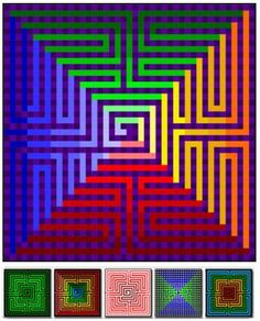 19 different size options in one pattern. 3d Quilts, Baby Quilts, Pixel Crochet Blanket, Geometric Quilt, Rainbow Quilt, Easy Quilt Patterns, Contemporary Quilts, Quilt Sizes, Quilting Tutorials