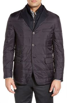 Corneliani Classic Fit Quilted Jacket