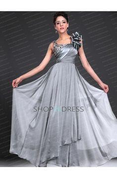 Gray Prom Dress Formal Dresses