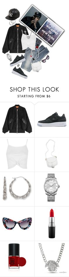 """""""""""I put on for my city so when I'm dead and gone I got one last wish: put my Yankee cap on"""" -- Jay Z"""" by shortyluv718 ❤ liked on Polyvore featuring Alexander Wang, NIKE, Topshop, Bamboo, Calvin Klein, MAC Cosmetics, Bling Jewelry, jayz, baseballcap and baseballhats"""