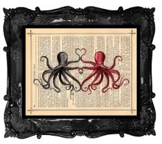 Custom+Wedding+Octopus+Print++Dictionary+Art++by+BlackBaroque,+$10.00