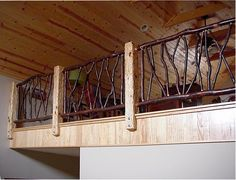 But I would like to mount my posts straight on the edge of my loft like this: