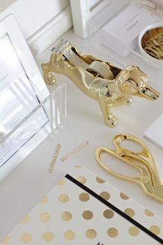 gold desk accessories :)