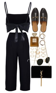 """Untitled #10015"" by nikka-phillips ❤ liked on Polyvore featuring Boohoo, Forever 21, Gucci, Ray-Ban, Acne Studios, Yves Saint Laurent and Chanel"