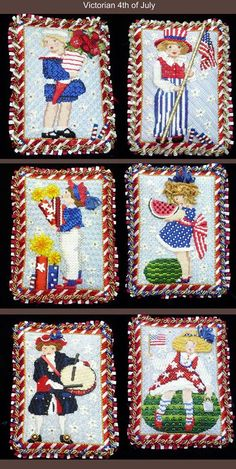 4th of July kids series needlepoint from Melissa Shirley Designs