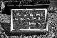 James Joyce grave. Leinster Region, eastern Ireland