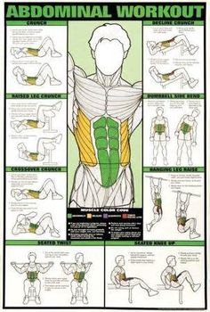 exercise chart workout color coded - Yahoo! Image Search Results