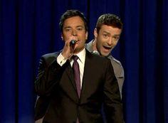 Jimmy Fallon and Justin Timberlake. My favorites <3