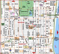 mapa midtown manhattan nova york e voce