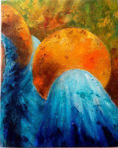 Las Marías. Mixta s/lienzo. 41 x 33 cm.2014 https://www.flickr.com/photos/antoniasoler/15657853345/  #arte #contemporaneo #elche #art #paintings #misteridelx #antoniasoler http://antoniasoler.com/es/blog