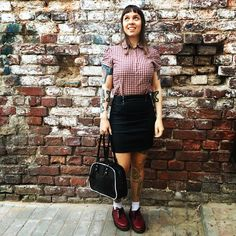 "Hellena Fioleta on Instagram: ""#skinheadgirl #skinhead #skinheadtattoo #skinheadstraightedge"" Skinhead Tattoos, Skinhead Girl, Skin Head, Leather Skirt, Skirts, Instagram, Tops, Women, Style"