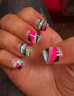 acrylic paints for nails 5 best – nail art nail designs - Nails Ideas & Nails Diy Get Nails, Fancy Nails, Love Nails, Pretty Nails, Crazy Nails, Bling Nails, Fabulous Nails, Gorgeous Nails, Perfect Nails
