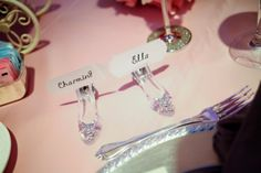 Cinderella's Glass Slipper Place Card Holder And Card Disney Fairytale Weddings