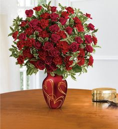 For Valentine's make sure loved ones are told; that you cherish them and their Hearts of Gold Valentines Day Poems, Valentines Day Pictures, Valentines Flowers, Surprise Your Girlfriend, Gold Bouquet, Red Vases, Ball Decorations, Same Day Flower Delivery, Local Florist