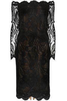 Emilio Pucci Off-the-shoulder Guipure Lace Dress - LoLoBu