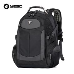 YESO Brand Laptop Backpack Men's Travel Backpacks Multifunction Rucksack Waterproof Oxford Black School Bags For Teenagers  ** This is an AliExpress Affiliate Pin. Haciendo click sobre la VISITA botón le llevará a encontrar productos similares