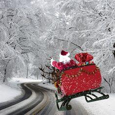 En route pour la livraison de vos cadeaux les enfants  #noel #perenoel