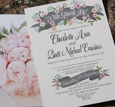 Blush pink wedding invitation. Ask us how we can color customize a wedding invitation for you!