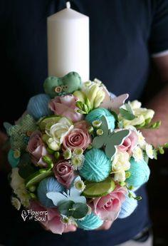 Flowers of Soul: Lumanari de botez Flower Diy, Diy Flowers, Cake, Pie Cake, Cakes, Cookies, Cheeseburger Paradise Pie, Pastries, Cookie