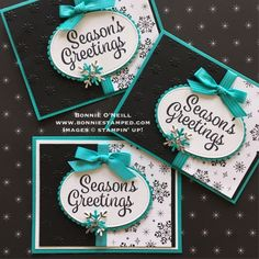 Stampin Up! snowflake sentiments stamp set, #snowflakesentiments #bonneistamped #christmasclub