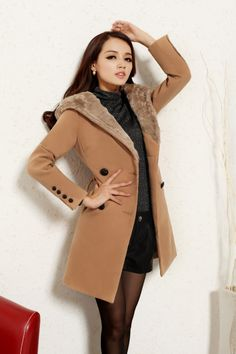 Clearance : faux fur woolen winter coat jacket final clearance ghl0011
