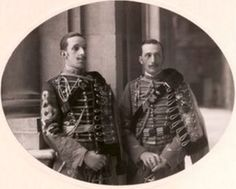 King Alfonso XIII and Prince Carlos Tancredo of the Two Sicilies. Years later the Kings heir would marry one of Carloss daughters from his second marriage to a French princess, becoming the Count and Countess of Barcelona and the parents of the current King.