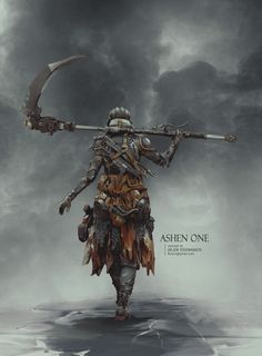 Ashen One, Arjun Vishwanath on ArtStation at https://www.artstation.com/artwork/vRKGa