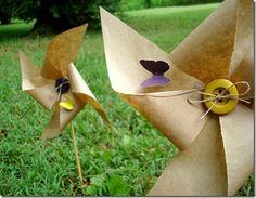 paper bag pinwheels