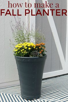 FALL OUTDOOR PLANTER