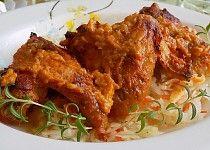 Kuřecí křídla v ostrém jogurtu Chicken Wings, Barbecue, French Toast, Pork, Treats, Breakfast, Rabbit Recipes, Portuguese Food, Kale Stir Fry