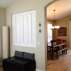 internal window space with closed shutter